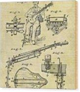 1873 Guitar Patent Wood Print