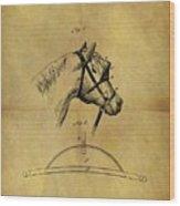 1874 Horse Blinder Patent Wood Print