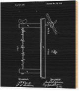 1874 Wire Fence Patent Drawing Wood Print
