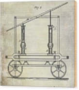 1875 Fire Extinguisher Patent Wood Print