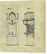 1876 Beer Cooler Patent Wood Print
