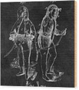 1876 Fireman Suit Patent Wood Print