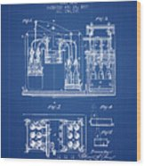 1877 Bottling Machine Patent - Blueprint Wood Print