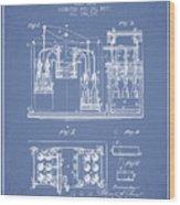 1877 Bottling Machine Patent - Light Blue Wood Print
