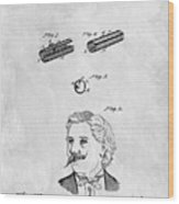 1879 Mustache Guard Patent Wood Print