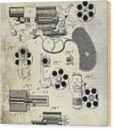 1881 Revolver Patent  Wood Print