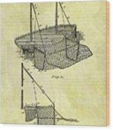 1882 Fishing Net Patent Wood Print