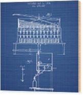 1884 Bottling Machine Patent - Blueprint Wood Print