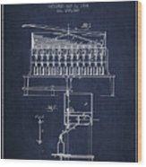 1884 Bottling Machine Patent - Navy Blue Wood Print