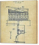 1884 Bottling Machine Patent - Vintage Wood Print