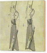 1884 Rifle Stock Patent Wood Print