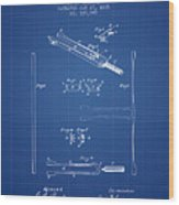 1885 Tuning Fork Patent - Blueprint Wood Print