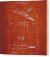 1885 Tuning Fork Patent - Red Wood Print