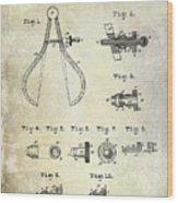 1886 Caliper And Dividers Patent Wood Print