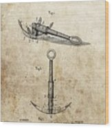 1887 Anchor Patent Wood Print