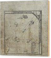 1887 Baseball Game Patent Wood Print