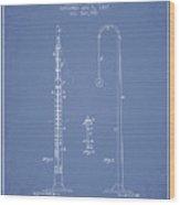 1887 Metronome Patent - Light Blue Wood Print