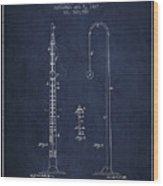 1887 Metronome Patent - Navy Blue Wood Print