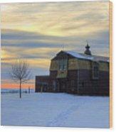 1888 Barn In Winter 02 Wood Print