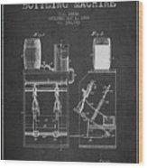 1888 Beer Bottling Machine Patent - Charcoal Wood Print