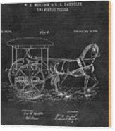 1888 Horse Drawn Carriage Wood Print