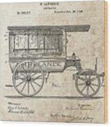 1889 Ambulance Patent Wood Print