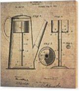 1889 Coffee Maker Patent Wood Print