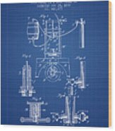 1890 Bottling Machine Patent - Blueprint Wood Print