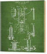 1890 Bottling Machine Patent - Green Wood Print