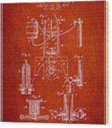 1890 Bottling Machine Patent - Red Wood Print
