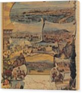 1890s Oriental Railways To Constantinople Wood Print