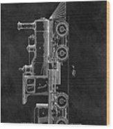 1891 Locomotive Engine Patent Wood Print