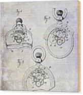 1893 Pocket Watch Patent Wood Print