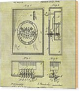 1895 Police Call Box Wood Print