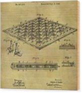 1896 Chess Set Patent Wood Print