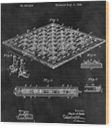 1896 Chessboard Patent Wood Print