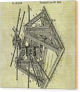 1896 Oil Rig Illustration Wood Print