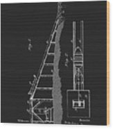 1896 Water Roller Coaster Wood Print