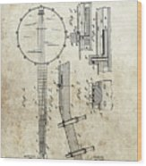 1897 Banjo Patent Wood Print