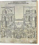 1897 Beer Brewering Patent  Wood Print
