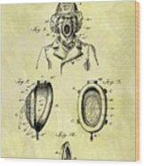 1897 Fireman's Inhaler Patent Wood Print