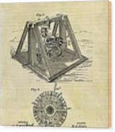 1897 Oil Rig Patent Wood Print