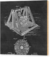 1897 Oil Well Rig Patent Design Wood Print