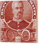 1898 President Of Haiti Stamp Wood Print