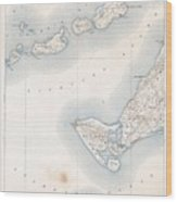 1898 Us Geological Survey Map Of Gay Head Marthas Vineyard Massachusetts Wood Print