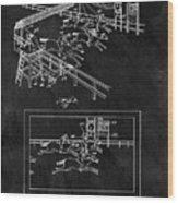 1899 Horse Track Patent Wood Print