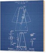1899 Metronome Patent - Blueprint Wood Print