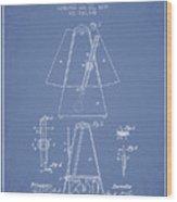 1899 Metronome Patent - Light Blue Wood Print