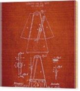 1899 Metronome Patent - Red Wood Print