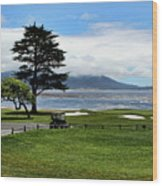 18th At Pebble Beach Horizontal Wood Print